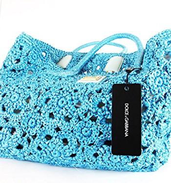 Dolce-Gabbana-Sac--main-pour-femme-Bleu-Bleu-clair-B-32cm-H-26cm-T-15cm-0