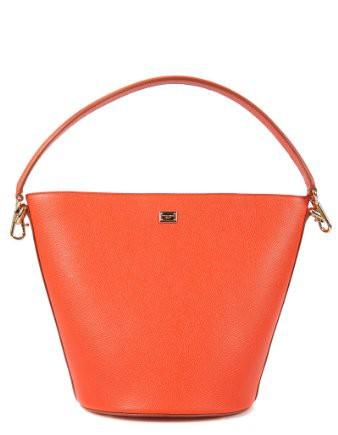 DolceGabbana-sac--main-femme-en-cuir-hobo-orangene-0