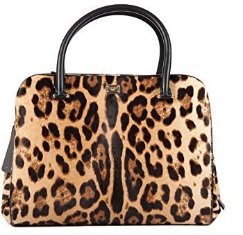 DolceGabbana-sac--main-femme-en-cuir-leo-marron-0