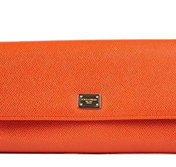DolceGabbana-sac--main-femme-en-cuir-orange-0