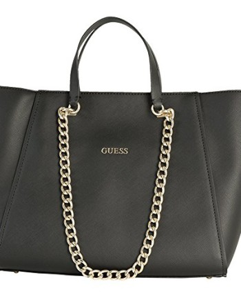 GUESS-Nikki-Chain-Tote-Black-0