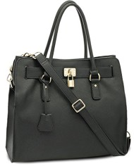BOVARI-sac–main-Golden-Padlock-Bag-cuir-de-veau–imprim-saffiano-37x30x16cm-noir-0