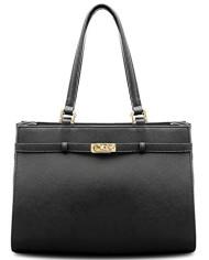 BOVARI-sac–main-Jackie-cuir-de-veau–imprim-saffiano-37x27x16cm-noir-0