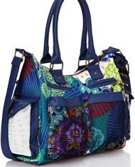 Desigual-Bols-London-Floreada-Carry-Sac-bandoulire-Multicolore-5060-Azul-Niza-Taille-Unique-0-0
